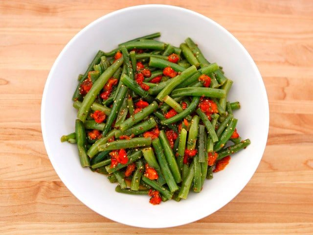 Green Bean Pepper Salad