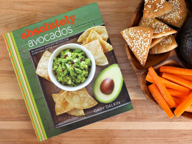 "Learn to make creamy Avocado Cilantro Hummus from Gaby Dalkin's cookbook ""Absolutely Avocados."" Great alternative to guacamole."