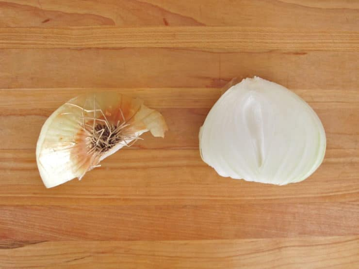 All About Onions: History, Chopping and Stopping Tears - Learn a little history about the onion, how to get rid of the onion smell and tears, and how to properly chop and mince one using a chef's knife.