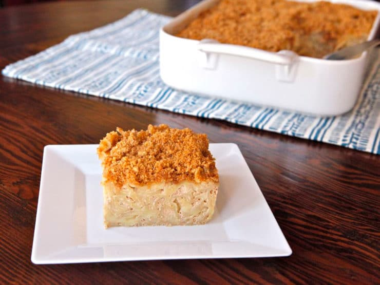 Chai Noodle Kugel - Love chai lattes? You'll really love this creamy dessert-style kugel with warm Indian chai spices. Kosher, Dairy. Shavuot.
