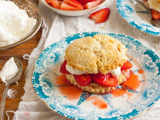 Strawberry Shortcake - American Cakes - the history of Strawberry Shortcake from food historian Gil Marks, and a delicious traditional recipe for Strawberry Shortcake.
