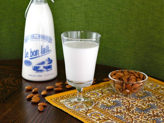 Creamy Homemade Almond Milk - Learn to make creamy non-dairy almond milk at home. Use in place of dairy milk in coffee, over cereal or on its own!