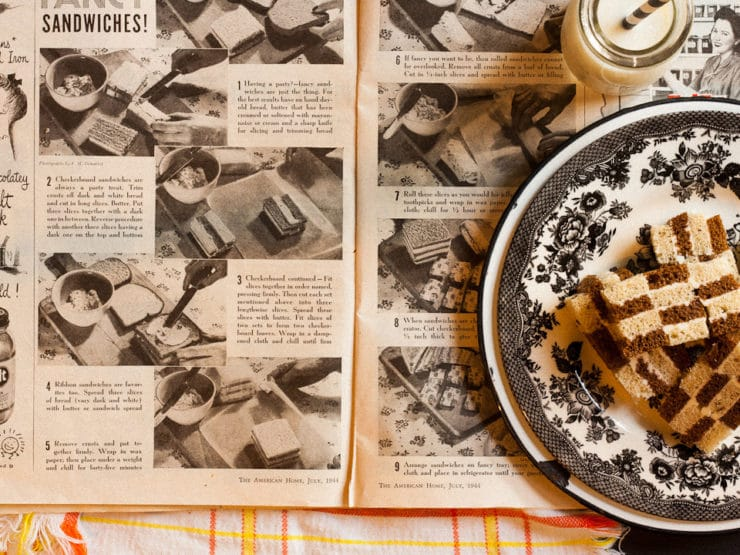 Very Fancy Sandwiches - Chef Louise Mellor shares how to make simple, vintage fancy sandwiches for your next soiree. From wartime American Home Magazine.