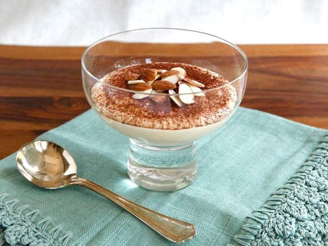 Cheesecake Tiramisu Protein Pudding on TheShiksa.com #lowcarb #dessert #healthy