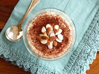 Cheesecake Tiramisu Protein Pudding on TheShiksa.com #lowcarb #dessert #healthy