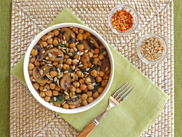 Chickpea Grits With Sauteed Mushrooms Recipe — Dishmaps