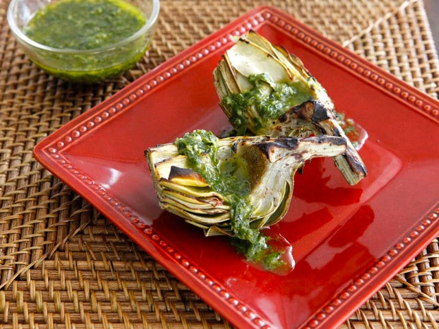 How to Grill Artichokes on TheShiksa.com #cooking #tutorial