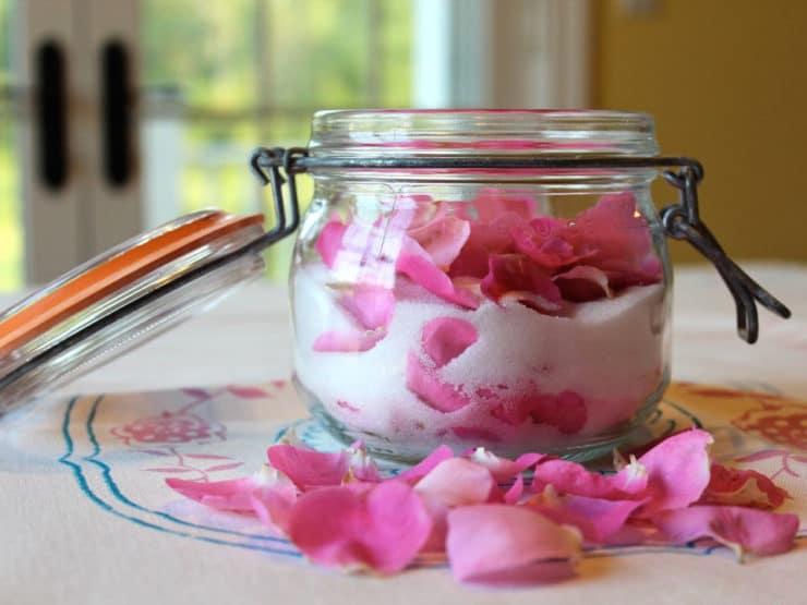 Sugared Rose Petals and Rose Sugar