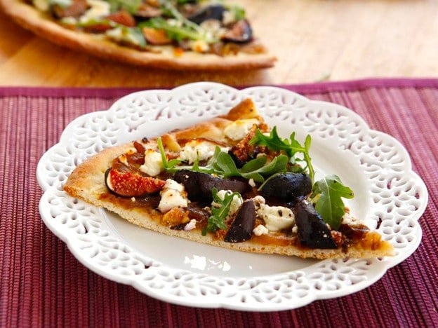 Rustic Fig And Goat Cheese Pizza Recipe — Dishmaps