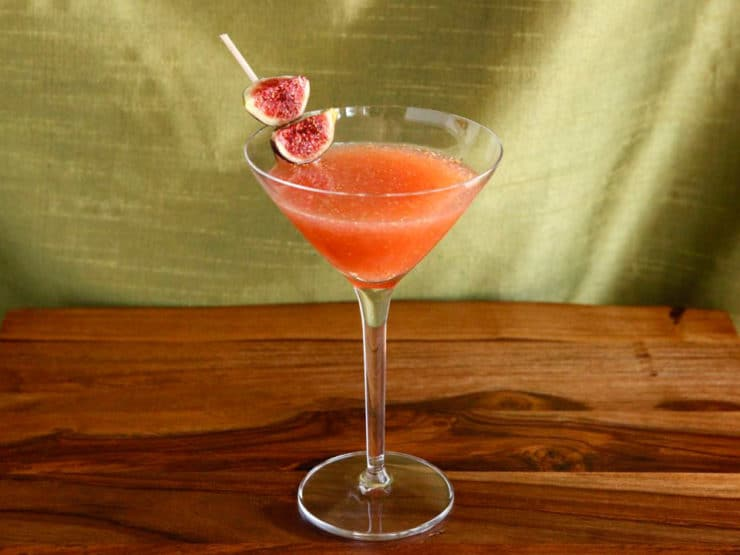 Fig and Honey Cocktail - Perfect for serving at Rosh Hashanah, Sukkot, or just because. Includes recipe for fresh fig puree.