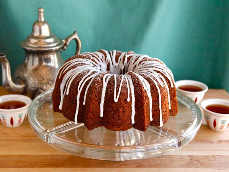 This Honey Apple Bundt Cake for Rosh Hashanah is moist, sweet, and beautifully iced for a unique twist on Jewish honey cake. Kosher, Pareve.