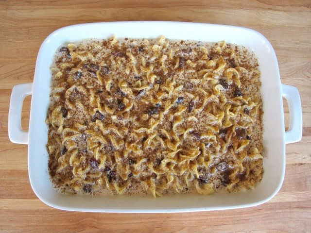 Rum Raisin Cranberry Kugel #jewish #holiday #recipe