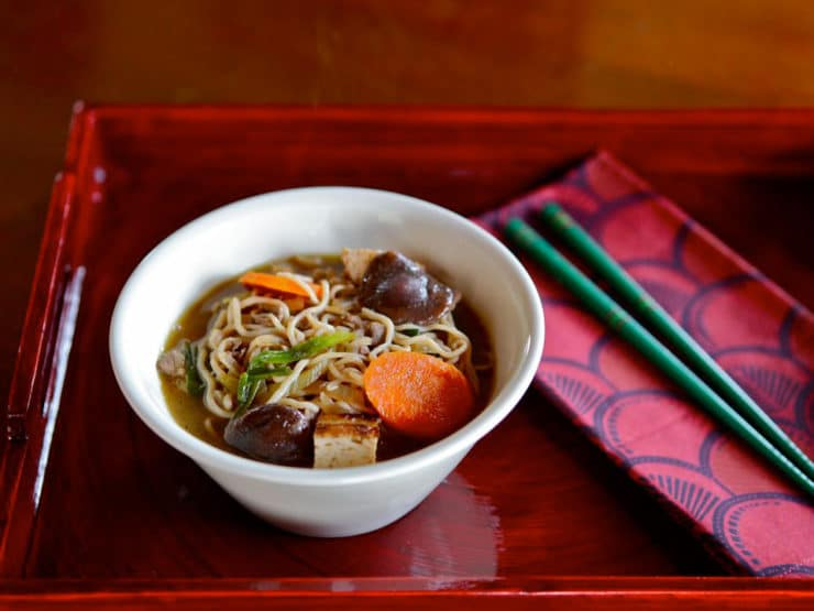 Japanese Beef and Vegetable Hot Pot - Recipe for sukiyaki, a Japanese hot pot made with beef and vegetables. Healthy, gluten free comfort food from The Asian Grandmother's Cookbook.