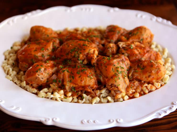 ' Kosher Chicken Paprikash - Learn to make kosher Chicken Paprikash ...