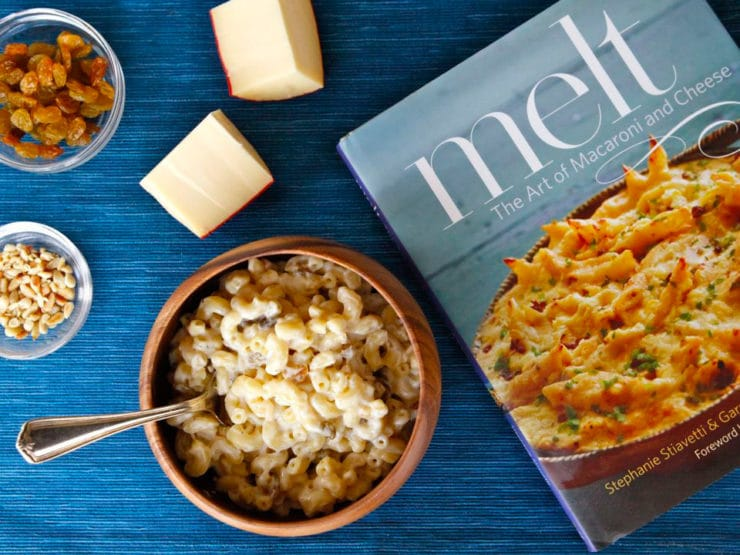 Gouda Macaroni with Golden Raisins and Pine Nuts
