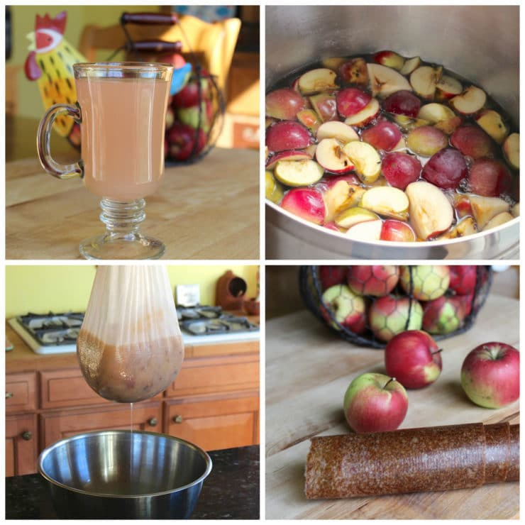 Learn to make homemade apple juice and apple leather, no apple press needed. Simple old fashioned method for all-natural tasty apple products!