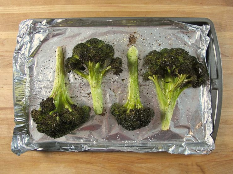 How to Roast Broccoli Whole and In Pieces - Easy Step By Step Tutorial