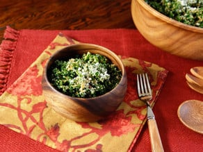 Garlicky Kale Parmesan and Panko Salad - Healthy and Delicious Winter Salad Recipe