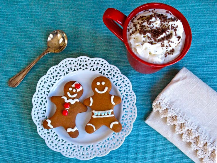 The History of Gingerbread and a recipe for gingerbread cookies with link to royal icing tutorial.