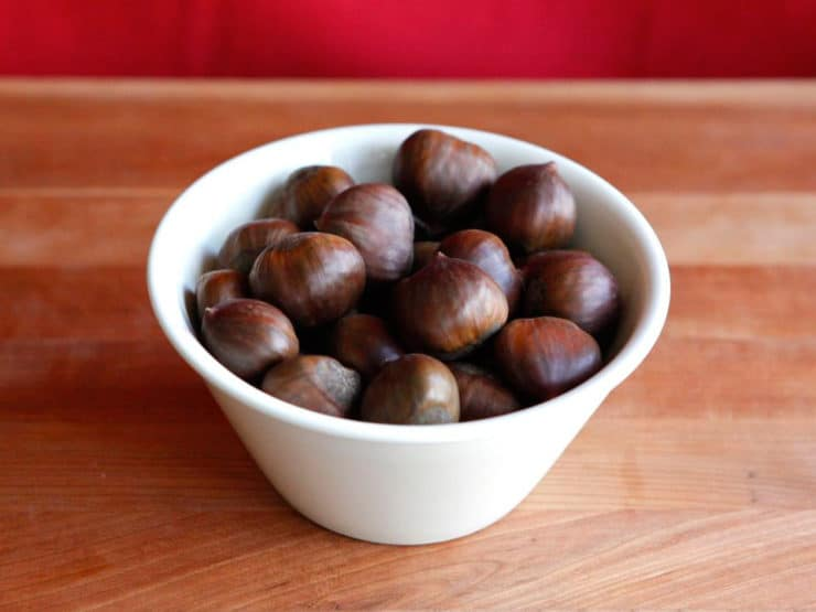 How to Roast and Peel Chestnuts in the Oven - The easy way to roast and peel chestnuts in your home oven, using steam to loosen the shell.