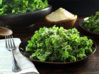 Garlicky Kale Parmesan and Panko Salad - Tori Avey