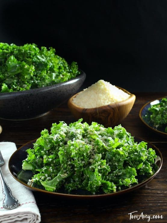 Garlicky Kale Parmesan And Panko Salad Recipe Tori Avey