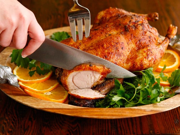 """Roast Duck with Rum - Vintage Holiday Recipe from """"Through Europe with a Jug of Wine"""" on The History Kitchen"""
