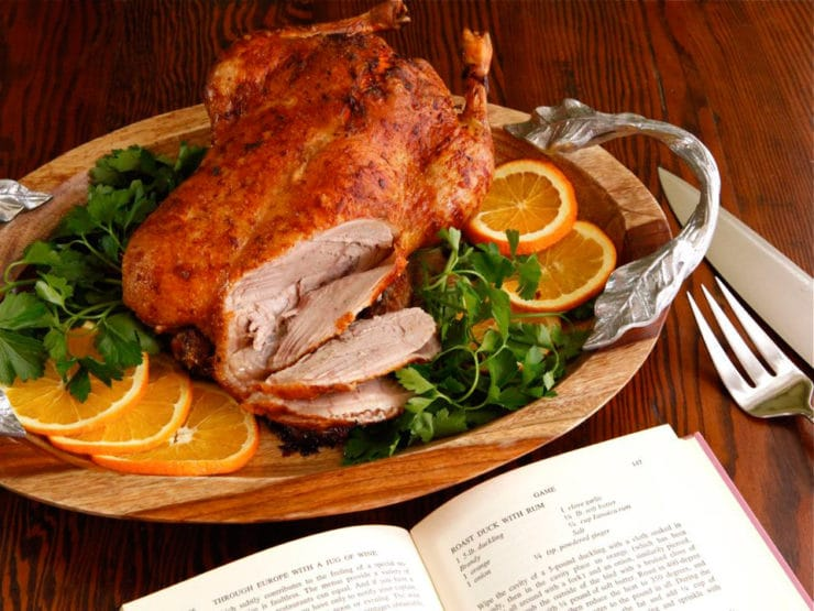 "Roast Duck with Rum - Vintage Holiday Recipe from ""Through Europe with a Jug of Wine"" on The History Kitchen"