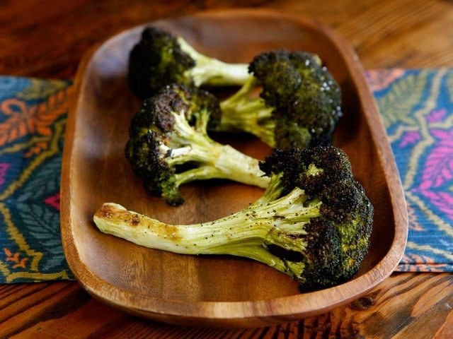 How to Roast Broccoli Whole and In Pieces - Easy Step-by-Step Photo Tutorial