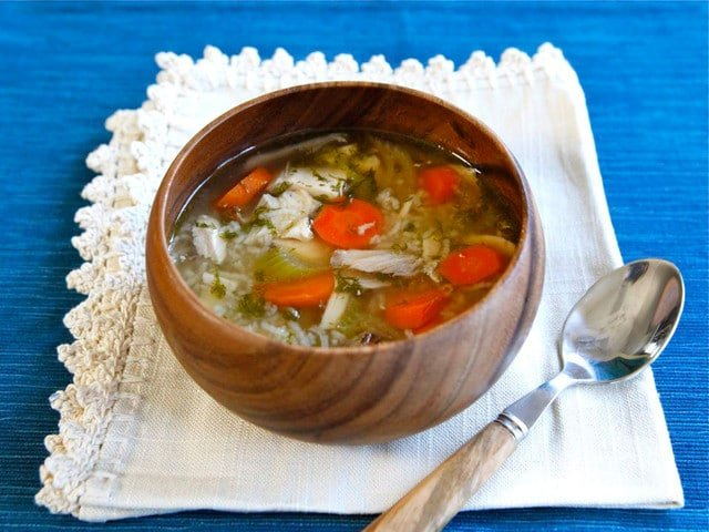 Rotisserie Chicken Rice Soup - Easy Healthy Comforting Recipe