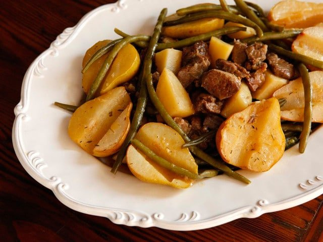 Swedish Lamb Stew with Pears from Tori Avey