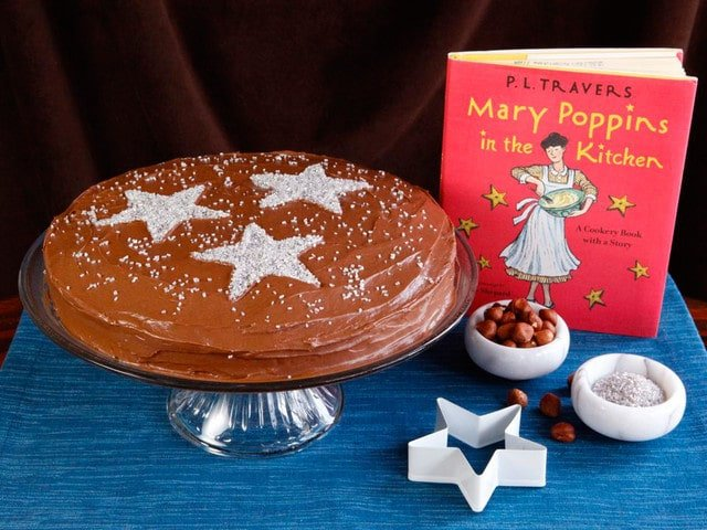A recipe for chocolate Zodiac Cake from a little-known cookbook written by P.L. Travers - Mary Poppins in the Kitchen: A Cookbook with a Story.
