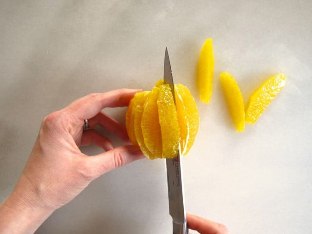 How to Clean and Slice Oranges and Citrus - Rounds and Supreme - Step-by-Step Photo Tutorial by Tori Avey