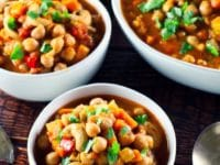 Slow Cooker Vegan Chickpea Chili Pinterest Pin on ToriAvey.com