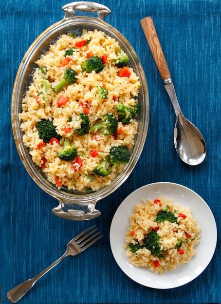 Cozy Comforting Recipe for Zesty Broccoli Cheddar Rice #WhyICook