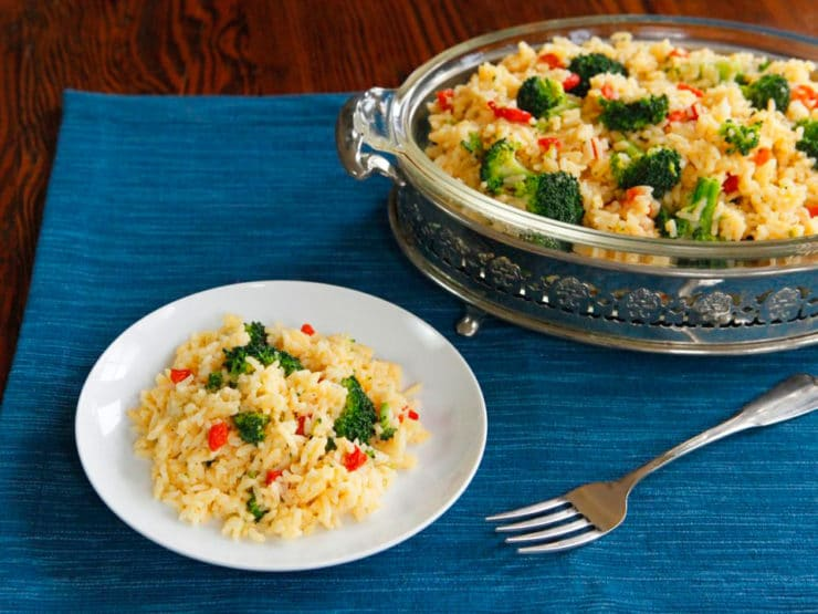 Why I Cook: Zesty Broccoli Cheddar Rice - A cozy, comforting recipe with a kick, made with Swanson vegetable broth. #WhyICook