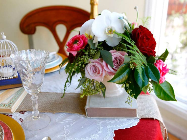 A Vintage Valentine's Table for Two: Photo tutorial - How to create a lovely and personal vintage-inspired Valentine's Day table using easy and affordable decorative antique elements.