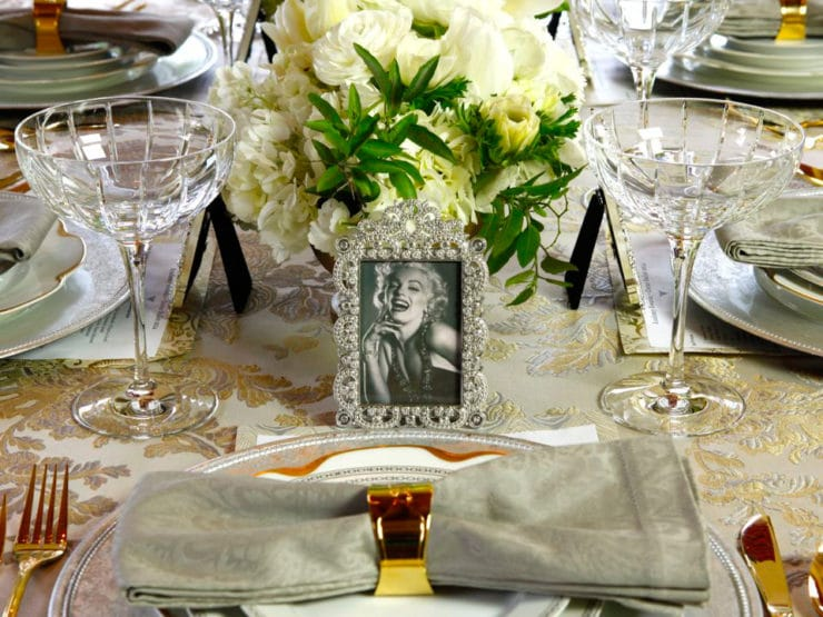 Golden Age of Hollywood Party - Tablescape and Floral Design Ideas for Oscar Party, Wedding or Birthday Soiree by Tori Avey