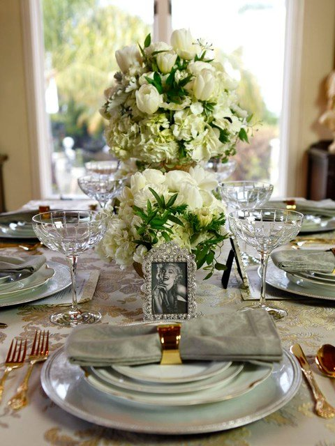 Golden Age of Hollywood Party - Tablescape and Floral Design Ideas for Oscar Party, Wedding, Birthday Soiree by Tori Avey