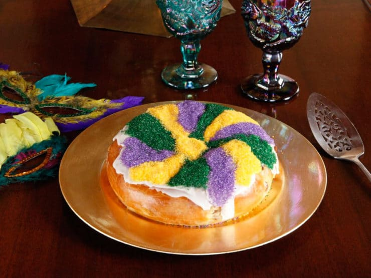 A traditional recipe and history for Mardi Gras King Cake from food historian Gil Marks.