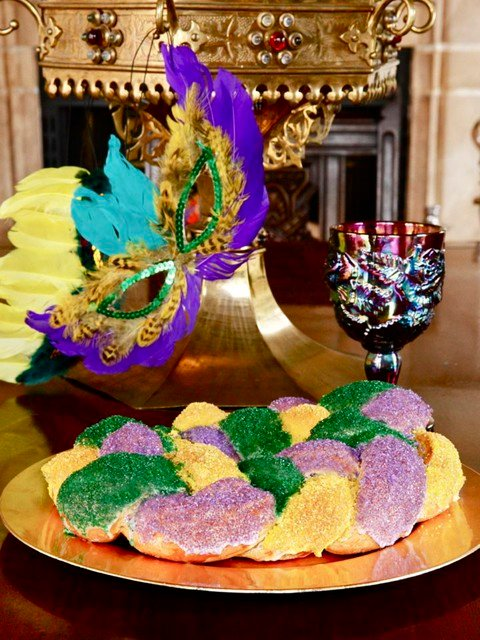 A traditional recipe and history for King Cake from food historian Gil Marks on The History Kitchen