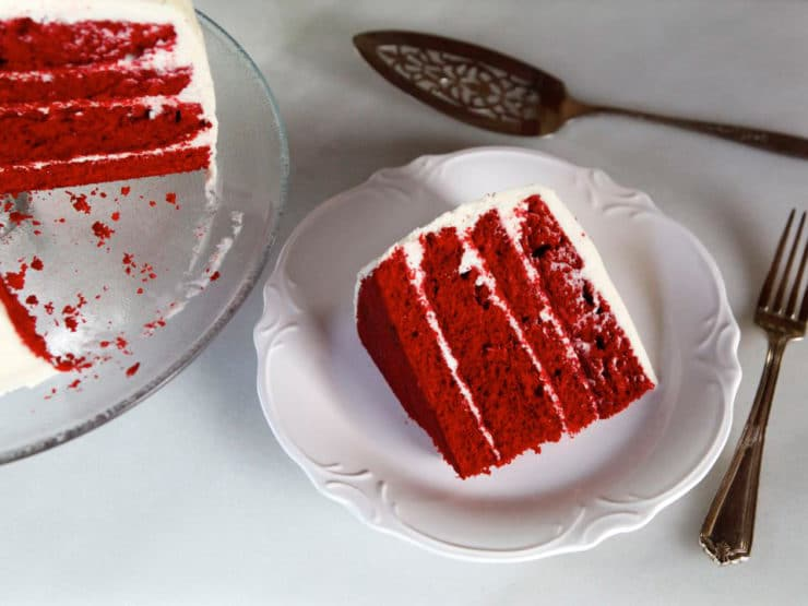 American Cakes: Red Velvet Cake - A traditional recipe and history for Red Velvet Cake with Cream Cheese or Whipped Roux Frosting from food historian Gil Marks.