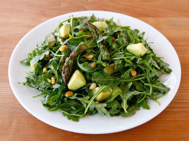 Roasted Asparagus, Avocado and Arugula Salad