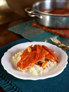 Middle Eastern Tomato Garlic Fish Recipe - Easy, Healthy, Flavorful Entree by Tori Avey