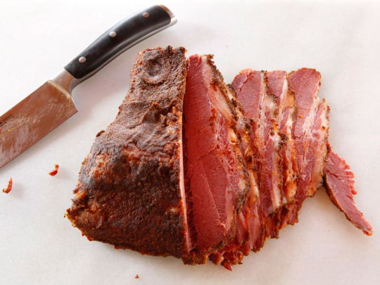 Homemade Pastrami - Easy Method for Curing and Cooking Pastrami at Home. Learn to make delicious deli-quality pastrami at home with this simple and tasty recipe, adapted from The Artisan Jewish Deli at Home cookbook.
