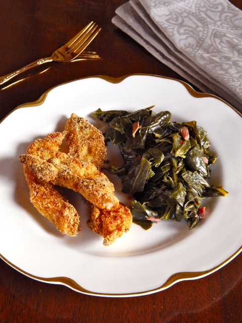 Mark Twain's Huckleberry Finn: Catfish & Collard Greens - History professor Bruce Kraig shares a recipe for Southern Catfish and Greens from Chef Joe Randall, inspired by Mark Twain's classic Huckleberry Finn.