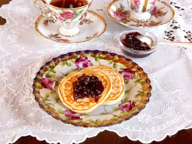 Victoria's Favorite Pikelets - Old Fashioned Recipe for Edwardian Tea-Time Pancakes from Sharon Biggs Waller on The History Kitchen