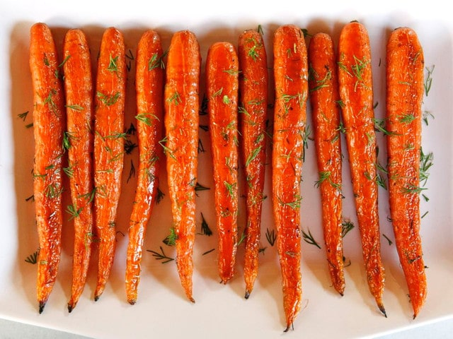 Roasted Carrots with Dill - Simple Springtime Side Dish Recipe by Tori Avey