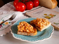 Tomato Egg Scramble - Vintage Recipe from Cooking Club Magazine, March 1913