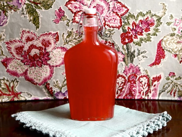 Homemade Rhubarb Syrup - Simple Step-by-Step Recipe for Rhubarb Infused Simple Syrup from Tori Avey